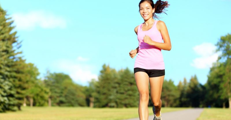 Sport fitness woman running